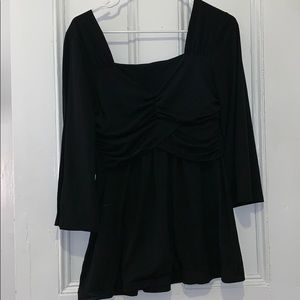 Black blouse with cross detail